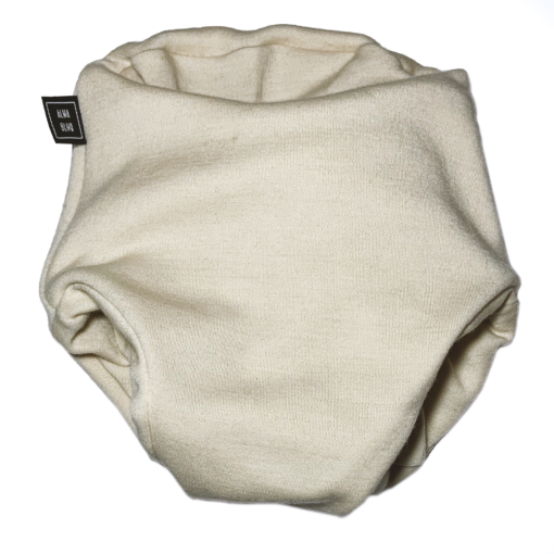 White beige pull up nappy picture taken from the front