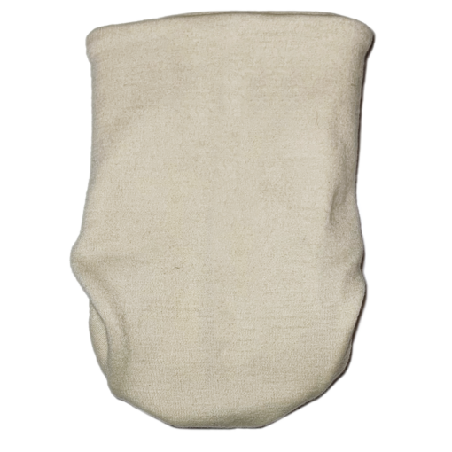 White beige snap nappy picture taken from the back