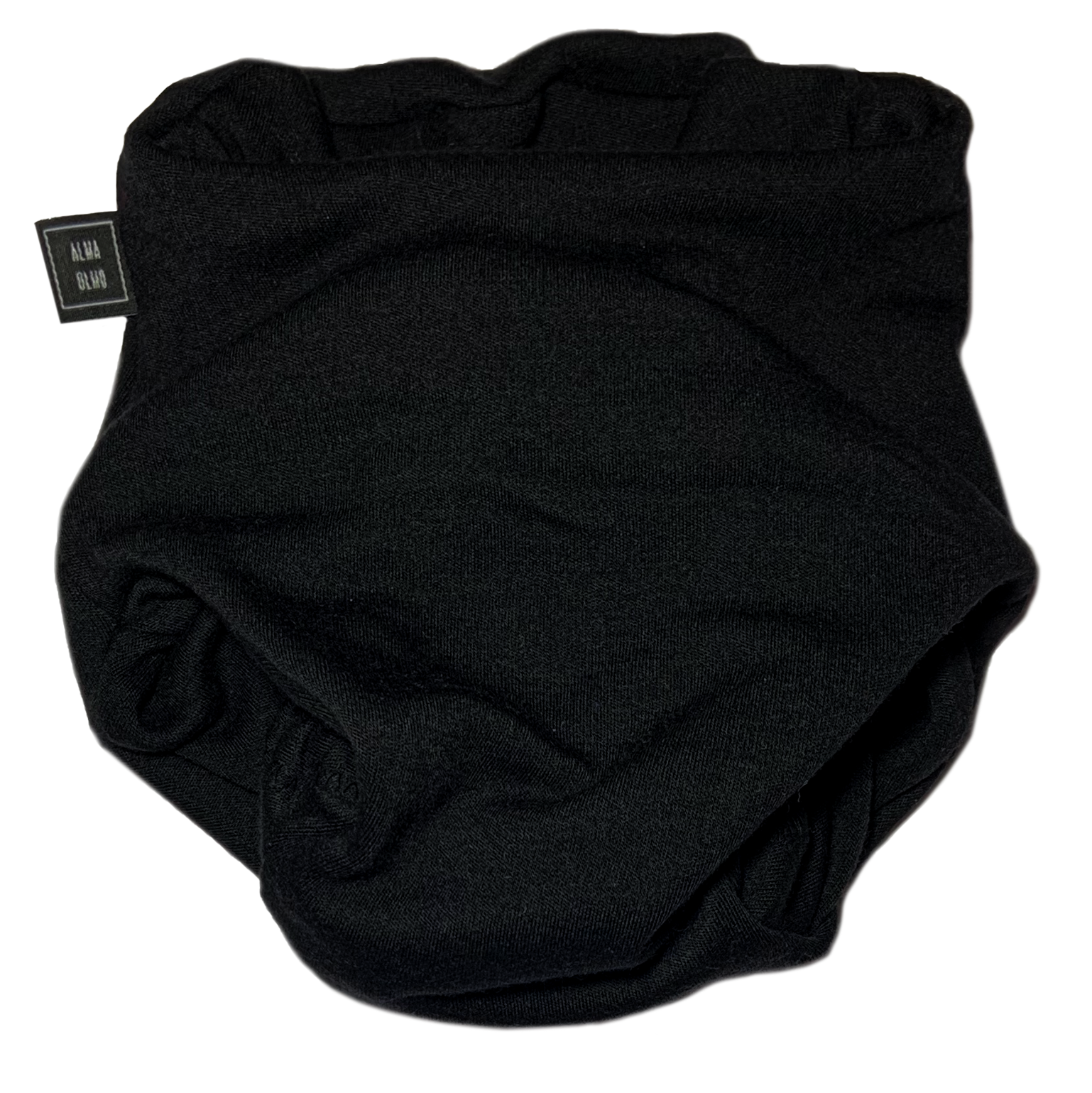 black pull up nappy picture taken from the front