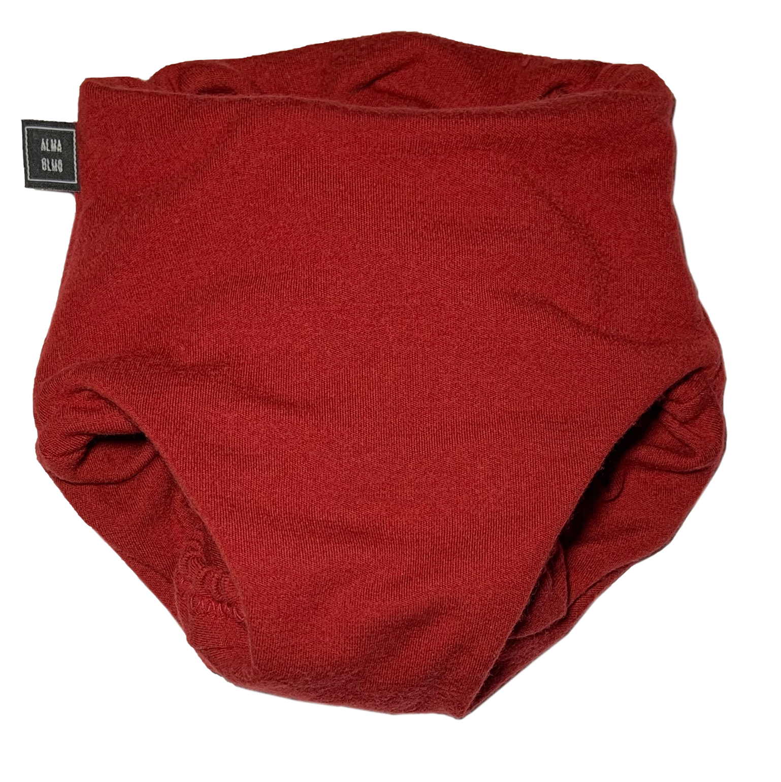 red pull up nappy picture taken from the front