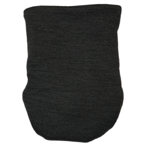 A dark grey snap nappy viewed from the back